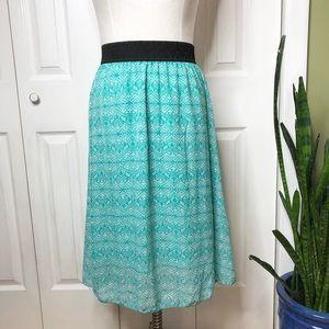 Lularoe Lola midi skirt, 💯% elastic waist